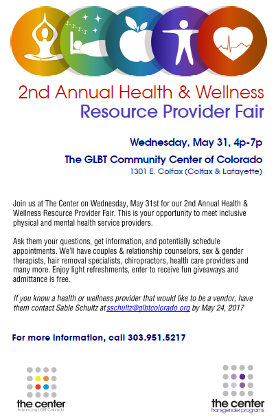 2nd Annual Health and Wellness Resource Provider Fair at The Center